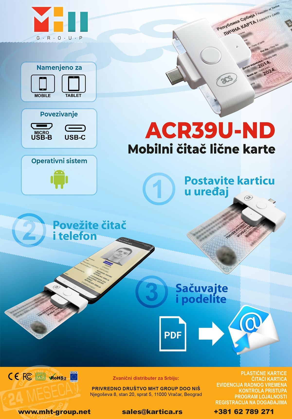 PocketMate Mobilni čitač lične karte sa MicroUSB povezivanjem
