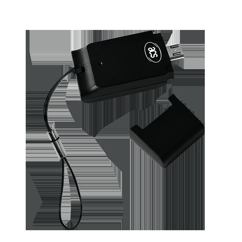 Čitač SIM-sized pametnih kartica sa MicroUSB povezivanjem