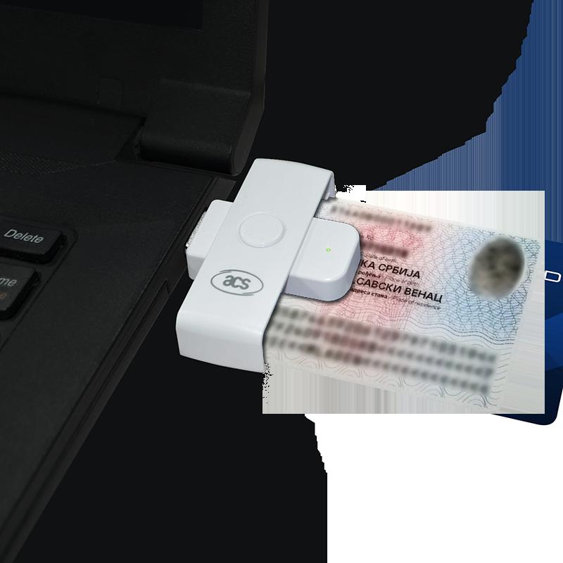 Čitač ličnih karata sa USB Type-A povezivanjem
