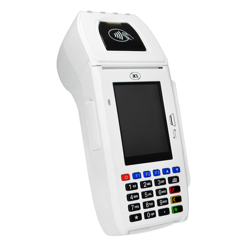 Handheld EMV terminal with built-in thermal printer