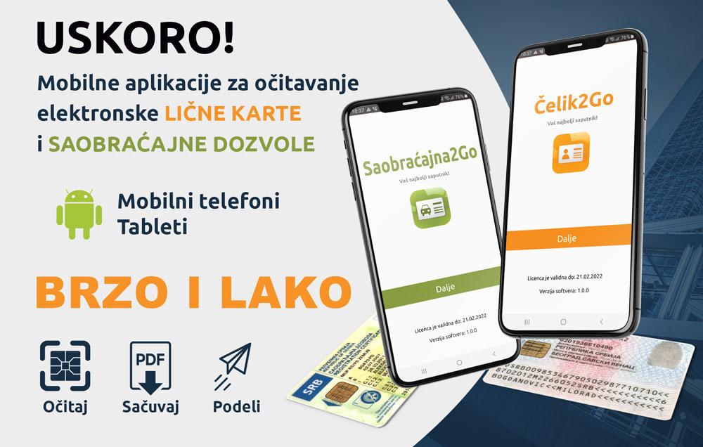 Mobilna aplikacija za očitavanje elektronske lične karte i saobraćajne dozvole