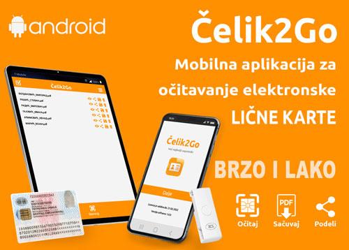 Celik2Go mobilna aplikacia za citac licne karte